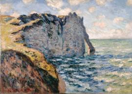 Schilderijbehang - Monet - Cliff of Etrétat
