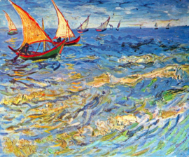 Schilderijbehang - Van Gogh - The sea at Saintes-Maries