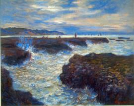 Schilderijbehang - Monet - Pourville