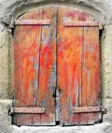 Fotobehang Woonkamer -Oude Shutters - Old Shutters