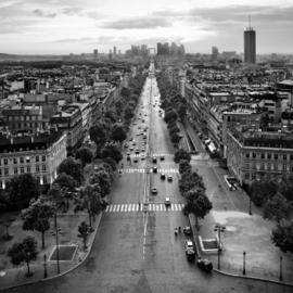 Fotobehang - Zwart wit Parijs - Fotobehang Arc de Triomphe in zwart wit