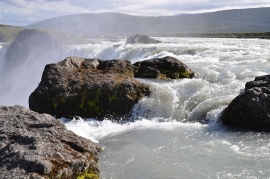 Fotobehang - Waterval - IJsland 1