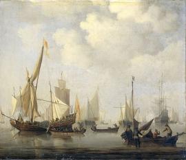 Schilderijbehang  Willem v.d. Velde II - Windstilte