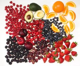 Fotobehang - Fruit - bessen frambozen aardbeien
