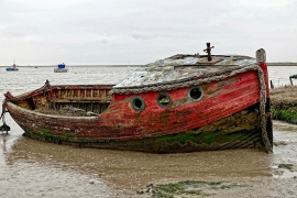 Fotobehang - Strand - Gestrand - Beached