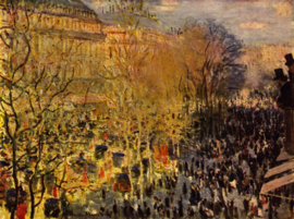 Schilderijbehang - Monet - Boulevard of Capucines