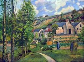 Schilderijbehang Pissarro - Landscape  in Pontoise