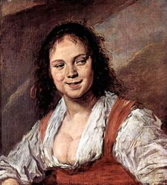 Schilderijbehang - Hals - Het Zigeunermeisje / Das Zigeunermädchen