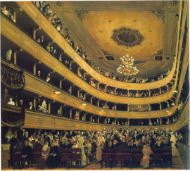 Schilderijbehang - Klimt - Hall ( The Auditorium of the Old Burgtheater )