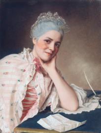 Schilderijbehang - Liotard - Portret of Mademoiselle Jacquet