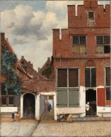 Schilderijbehang - Vermeer - Het straatje van Vermeer