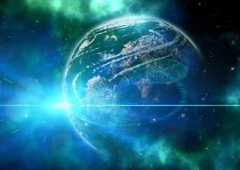 Fotobehang - Kosmos - Kosmos blauw - Kosmos blue