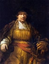 Schilderijbehang - Rembrandt - Self portrait Rembrandt