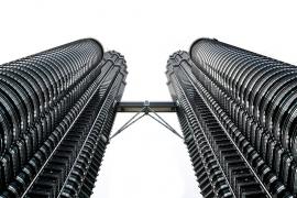 Fotobehang - Zwart-Wit - Gebouw 1 - Building 1