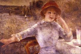 Schilderijbehang - Renoir - En La Grenouillere