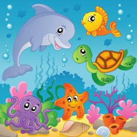 Fotobehang Kinderkamer - Onderwaterwereld