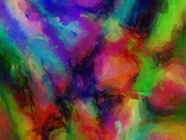 Schilderijbehang  met Abstracte Kunst - Zonder titel nr. 02