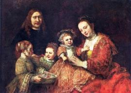 Schilderijbehang - Rembrandt - Familieportret