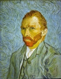 Schilderijbehang - Van Gogh - Self portrait
