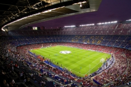 Fotobehang - Barcelona Nou Camp 1