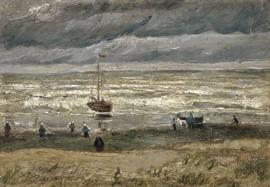 Schilderijbehang - Van Gogh - Zeegezicht bij Scheveningen
