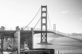 Fotobehang - Zwart wit Golden Gate bridge - Fotobehang Golden gate