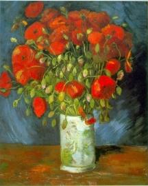 Schilderijbehang - Van Gogh - Red Poppies