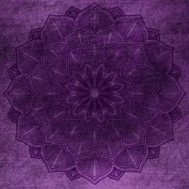 Fotobehang - Mandala - paars