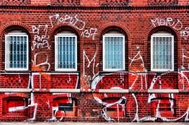 Schilderijbehang met Graffiti - Windows