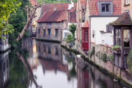 Fotobehang - Brugge - Bruges canals