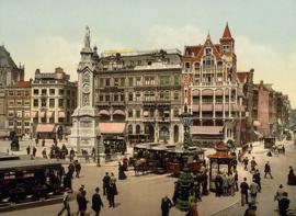 Fotobehang oud Amsterdam - de Dam ( anno ca. 1900 )