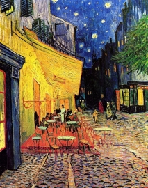 Schilderijbehang - Van Gogh - The Cafe Terrace at Arles