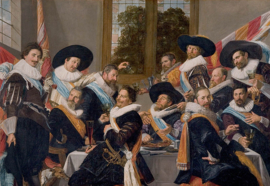 Schilderijbehang - Hals - Banket officieren van de Schutterij / Banquet of the Officers