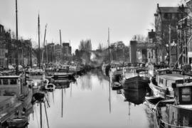 Fotobehang - Zwart wit - Groningen Noorderhaven