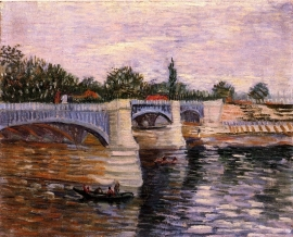 Schilderijbehang - Van Gogh - The Seine with the Pont de la Grande Jette