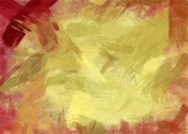 Schilderijbehang  met Abstracte Kunst - Zonder titel nr. 03