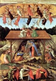 Schilderijbehang Botticelli - Birth of Christ