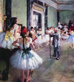 Schilderijbehang - Degas - The dance class