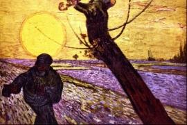 Schilderijbehang - Van Gogh - Le Semeur / De Zaaier