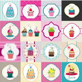 Fotobehang - Cupcakes