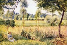 Schilderijbehang Pissarro - Matin a Eragny