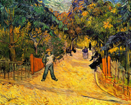 Schilderijbehang - Van Gogh - Entrance to the public park in Arles