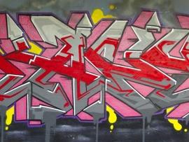 Schilderijbehang met Graffiti - Colorful