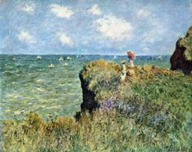 Schilderijbehang - Monet - Walk on the Cliffs