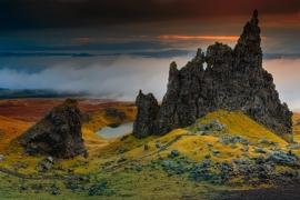 Fotobehang - Natuur - Rotsen Isle of Skye - Rocks Isle of Skye