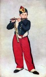 Schilderijbehang - Manet - The Piper
