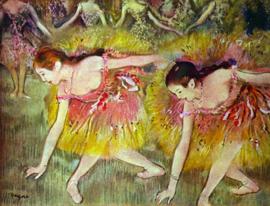 Schilderijbehang - Degas - Ballet dancers