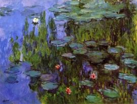 Schilderijbehang - Monet - Gardens