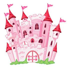 Fotobehang Kinderkamer - Prinsessenkasteel