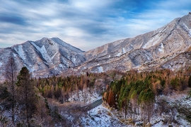Fotobehang - Bergen - Japan